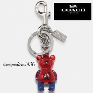 Coach Marvel Spider Man Bear Bag Charm